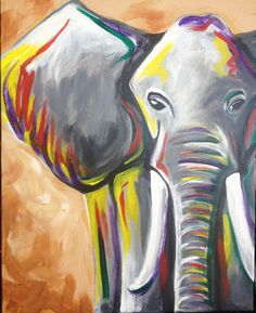 I am going to paint Elephant at Pinot's Palette - Montrose to discover my inner artist!