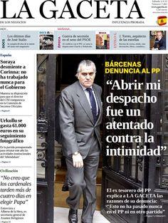 Los Titulares y Portadas de Noticias Destacadas Españolas del 2 de Marzo de 2013 del Diario La Gaceta de los Negocios ¿Que le parecio esta Portada de este Diario Español?