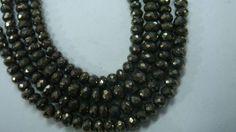 AAA Pyrite rondelles 6 mm by finegemsjewelery on Etsy, $25.00