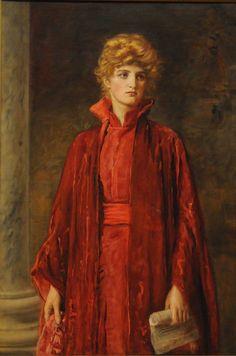 Sir John Everett Millais - Portia (Kate Dolan), 1886