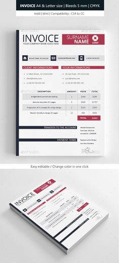 #Clean #Invoice #Template - #Proposals & #Invoices #Stationery Download here: https://graphicriver.net/item/clean-invoice-template/8959389?ref=alena994