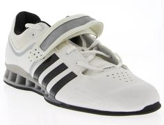 0a82c4cc7c40 Mens ADIDAS Black   White Synthetic Weight Lifting Shoes Size 15