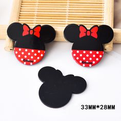 50pcs 33*28MM Kawaii Cartoon Mouse Resin Flatback For Hair Bow Planar Resin DIY Craft for Home Decoration Accessories DL-621