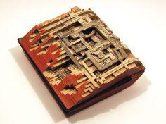 Brian Dettmer, Eco art, recycled materials, book art, books, sculpture, Kinz and Tillou Fine Art