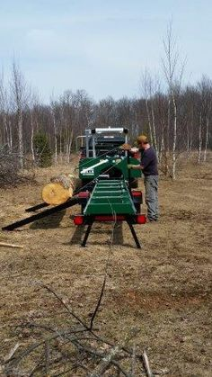 The Woodland Mills portable sawmill is a powerful, precision bandsaw mill that can mill massive 30 inch cm) diameter logs into dimensional lumber for an affordable price! Portable Bandsaw Mill, Portable Saw Mill, Firewood Processor, Wood Chipper, Logging Equipment, Rough Wood, Wood Shed, Blacksmithing, Woodland