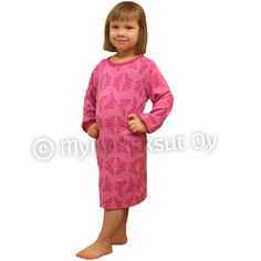 Nightdress, bamboo Bamboo, Dresses With Sleeves, Long Sleeve, Fabric, Pink, Clothes, Fashion, Finland, Gowns With Sleeves