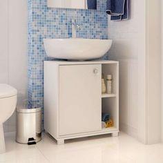 Balcão Para banheiro 1 porta BBN 01-06 Branco BRV Móveis