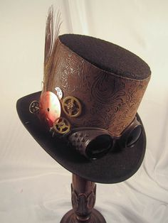 steampunk men | Home  Men's Steampunk Hats  Elsie Massey Steampunk Men's Brown ...