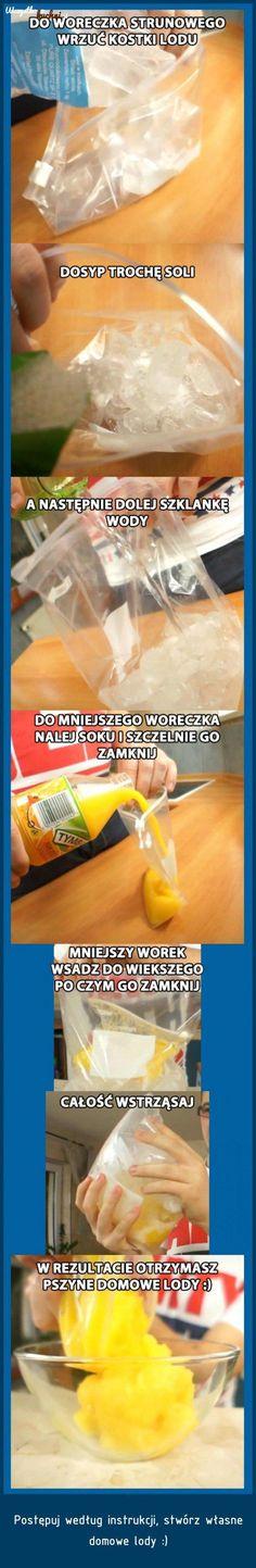 Domowe lody zrobine w worku - Zobacz ten nietypowy przepis!!!