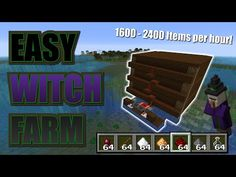 This is your basic Witch Farm, In 3 tests, 1 hour each I got 2383 and 1942 worth of items! Minecraft Link, Amazing Minecraft, Cool Minecraft Houses, Hama Beads Minecraft, Minecraft Tutorial, Minecraft Buildings, Perler Beads, Minecraft Projects, Minecraft Crafts