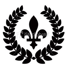 Fleur De Lis Laurel Royalty Free Stock Vector Art Illustration
