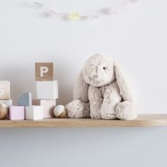 Bunny soft toy, Bedroom toys, Bunny toys, Beautiful toys, The white company, Little white company - Jellycat Medium Smudge Bunny Toy, Natural, One Size - #Bunnysoft #toy Bunny Plush, Bunny Toys, Bedroom Toys, Little White Company, Pom Pom Baby, Jellycat, Flower Fairies, New Baby Gifts, Baby Shower Gifts