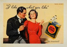 1933 Lucky Strike Ad