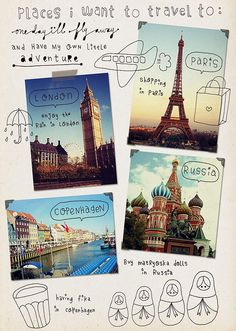 Page idea: Places I want to go (or places I've been) #journal