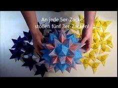 Faltanleitung für einen Rhombo-Stern (Rhombo star, Origami folding instruction) - YouTube