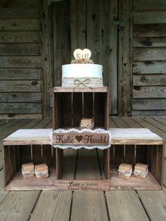 rustic wedding cake stand rustic wedding cupcake stand favor stand wedding crate