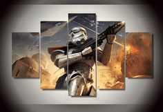 Star Wars 5 Piece Canvas Storm Trooper Wall Art