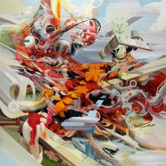 Full Bleed - Abstract paintings by Oliver Vernon  <3 <3