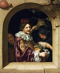 TIELIUS, Johannes -Hurdy-Gurdy Player with an Old Woman 1681