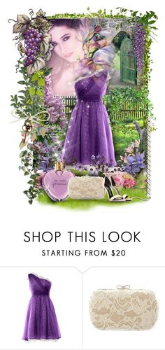 """""""Fairy garden"""" by kseniz13 ❤ liked on Polyvore featuring Tom Ford, dress, summertime, fairy, purpleandgreen and femine"""