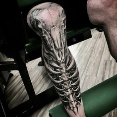 Badass leg tattoo