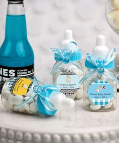 Design Your Own Collection Blue Baby Bottle Favors