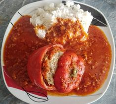 Stuffed peppers from morfel Healthy Eating Tips, Healthy Nutrition, Easy Healthy Recipes, Shellfish Recipes, Meat Recipes, Cooking Recipes, Vegetable Drinks, Food Menu, Carne