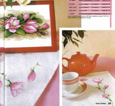 Cross stitch - flowers: Magnolia (free pattern with chart)