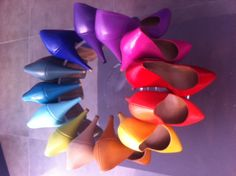 Rainbow Shoes | Evening Wear Shoes | Chaussures Habillées | Escarpins | Avondkledij Schoenen