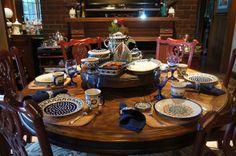 table set w polish pottery