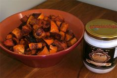 Coconut Oil Roasted Spiced Sweet Potatoes: