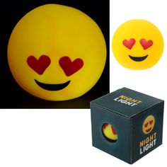 Decorative LED Night Light - Heart Eyes Emotive Character  Add colour and style to your home with our range of LED lights.  Complete with LED lights that require 1 x CR2032 battery (included), these decorations are perfect for adding that magical touch to your home, garden or special event.