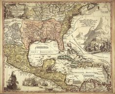 Mexico Antique world maps Old World Map by mapsandposters on Etsy, $9.99