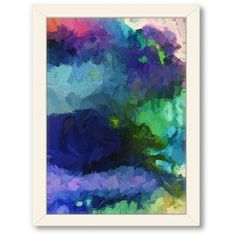 Americanflat Urban Road Watercolor 77 Framed Wall Art ($115) ❤ liked on Polyvore featuring home, home decor, wall art, vertical wall art and framed wall art