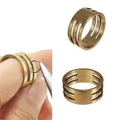 Q, 19x9mm Brass Open Close Jump Ring DIY Handwork Jewerly Making Tool