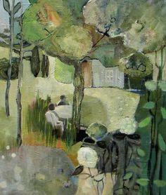 """Peinture à l'huile. Paysage. """"L'été au jardin"""". Bénédicte Garnier Fihey"""