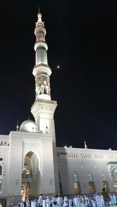 Madinah#moon#upon mainaret#