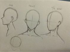 Drawing Faces Tips Drawing Heads, Drawing Base, Manga Drawing, Art Drawings Sketches Simple, Pencil Art Drawings, Body Drawing Tutorial, Digital Art Tutorial, Anatomy Art, Drawing Reference Poses