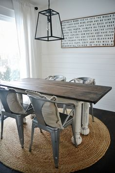 """New Farmhouse Table & Dining Room - The """"Before"""" -"""