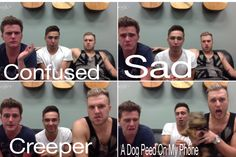 So funny! Chad does not do a very good sad face. Though his creeper face is on point. Just kidding. Chad is great