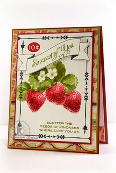 KSS - Strawberry Seed Packet Card