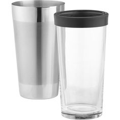 Crate & Barrel Boston Shaker ($20) ❤ liked on Polyvore featuring home, kitchen & dining, bar tools, cocktail shakers, crate and barrel, cocktail shaker and cocktail mixers