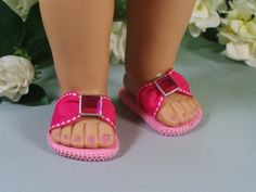 Spring Sandals in Pink. So going to make these in all colors.