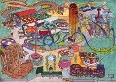 amusement park art | Amusement Park Map by Neotomi