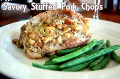 Savory Stuffed Pork Chops Recipe from Grandmother's Kitchen