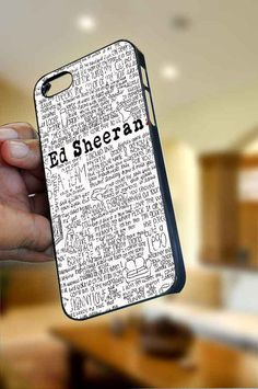 "Ed Sheeran iPhone Case Cover ""OPTION PLEASE"" for iPhone 4/4s or iPhone 5 , Black or White color"