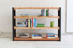 Make It: Easy DIY Industrial-Modern Bookcase » Curbly | DIY Design Community