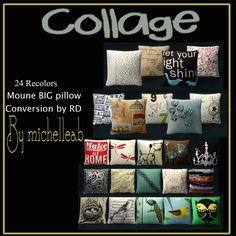 Sims 3-Collage Cushions - Downloads - BPS Community