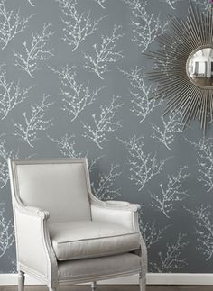 For my office- RAD! reusable, repositionable wallpaper! GENIUS!