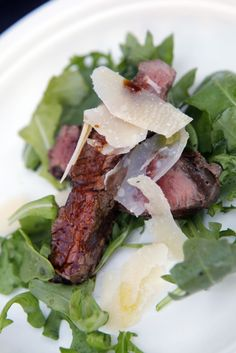 TAGLIATA ALLA FIORENTINA: GRILLED STEAK, ARUGULA AND PARMESAN by Chef Gabe Bertaccini